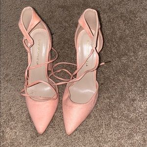 Light Pink Heels w/ chunky heel
